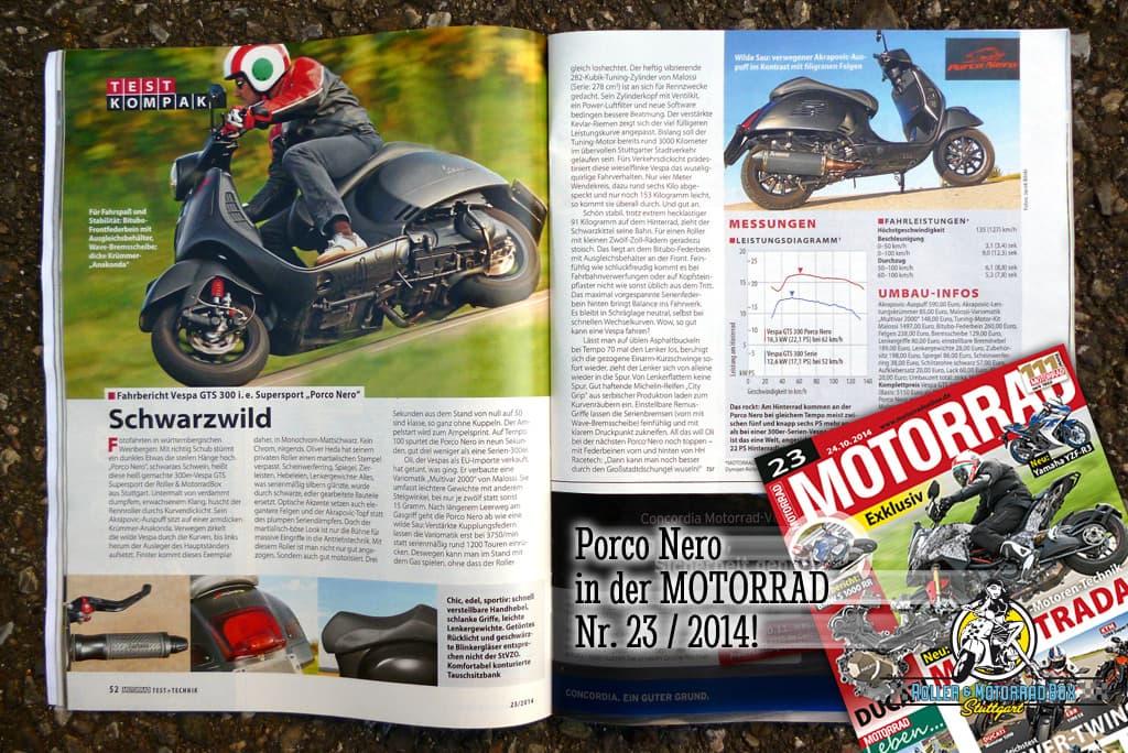 Porco Nero Fahrbericht MOTORRAD 2014